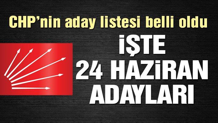 CHP'nin Milletvekili Aday Listesi Açıklandı: Ab.Şener Konya'dan Aday Gösterildi