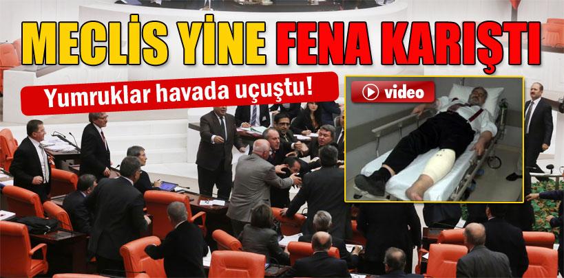 Meclis'te yumruklu kavga: 1 vekil yaralı