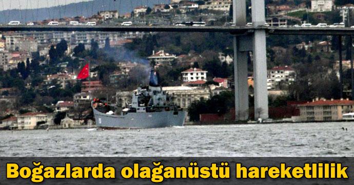 2 Rus savaş gemisi Boğaz'dan geçti