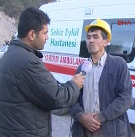 Kurtarma çalışmalarına katılan işçi DHA muhabirine konuştu